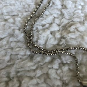 Betsey Johnson Jewelry - NWT Betsey Johnson Silver Owl Necklace Sparkly